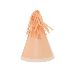 Peach Paper Party Hat 10pk