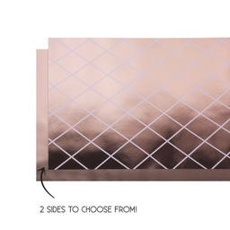 Metallic Rose Gold Reversible Table Runner