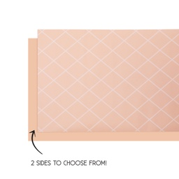 Peach Reversible Table Runner