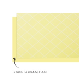 Pastel Yellow Reversible Table Runner