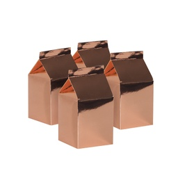 Metallic Rose Gold Milk Box 10pk