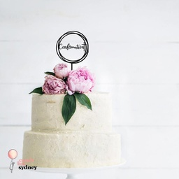 Round Swirl Confirmation Cake Topper