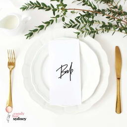 Modern Style Custom Wedding Place Card Names - Style 7
