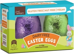 Sweet William Easter Egg Twin Pack 100g