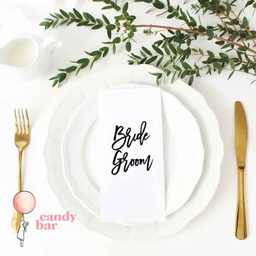 Modern Style Custom Wedding Place Card Names - Font 9