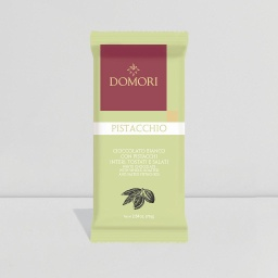 Domori Pistacchio - White Chocolate Bar With Whole Pistachios 75g