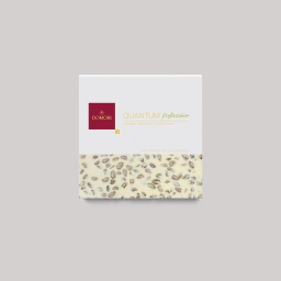 Domori Quantum White Chocolate and Whole Salted Pistachios 500g