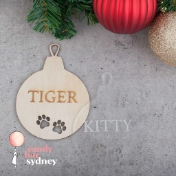 Personalised Christmas Pet Cat Bauble