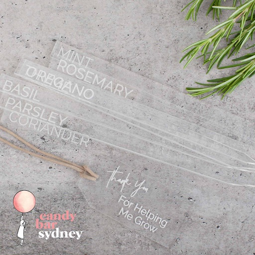 Clear Engraved Garden Stakes