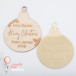Teachers Gift Christmas Bauble