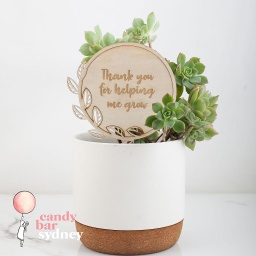 Engraved Planter Stick Gift