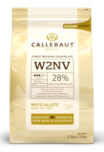 Callebaut W2 White Chocolate Callets 2.5kg