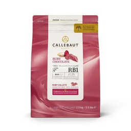 Callebaut RB1 Ruby Chocolate Callets 2.5kg