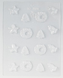 Martellato Christmas Tree Star Bell and Wreath Mould