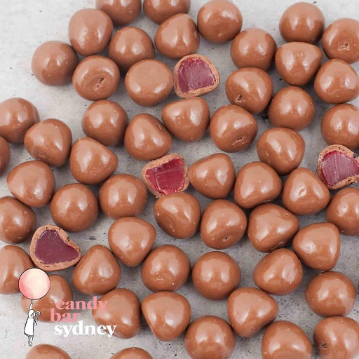 Belgian Milk Chocolate Allen's Ripe Raspberries