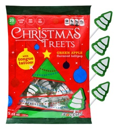 Christmas Treets Lollipops with Tongue Tattoo 280g