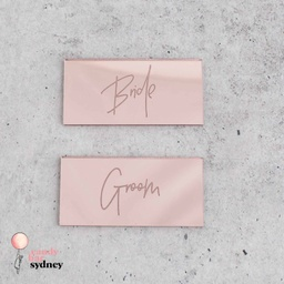 Modern Script Personalised Wedding Place Cards