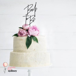 Modern Bride To Be Bridal Shower Cake Topper