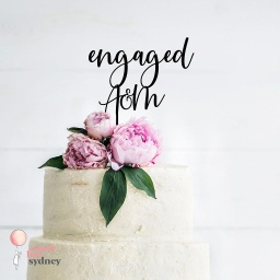 Custom Initials and Engaged Cake Topper