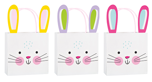 Easter Bunny Ears Treat Bag 3 Pack