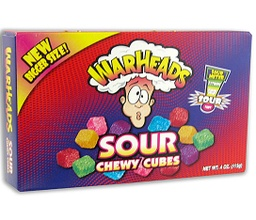 Warhead Sour Chewy Cubes 113g