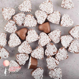 Belgian Milk Chocolate White Freckle Hearts