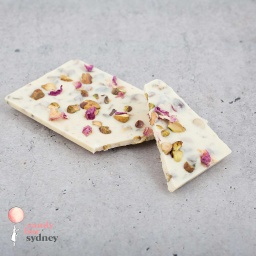Persian Rose & Pistachio White Chocolate Bar 80g