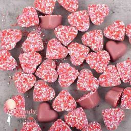 Belgian Ruby Chocolate Freckle Hearts