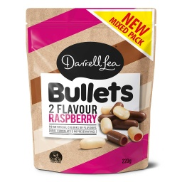 Darrell Lea Bullets Raspberry Mixed 220g
