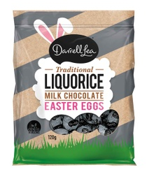 Darrell Lea Milk Chocolate Liquorice Eggs 120g