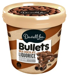 Darrell Lea Liquorice Milk Chocolate Bullets  Bucket 900g