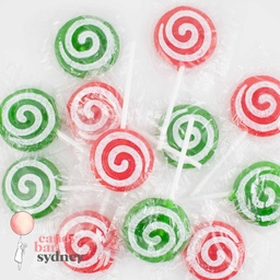 Red & Green Tattoo Swirl Pops Bulk 1kg