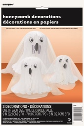 Ghost Honeycomb Decorations 3 Pack