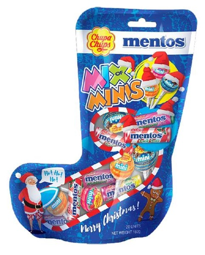 Chupa Chups / Mentos - Mix of Mini Xmas Stocking 160g