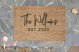 Personalised Anniversary Door Mat