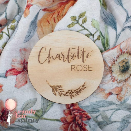 Personalised Baby Name Announcement Plaque - Style 1