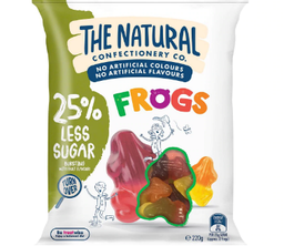 Natural Confectionery Company Frogs Reduced Sugar 220g