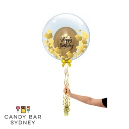 Luxe Designer Deco Bubble Gold Leaf Balloon