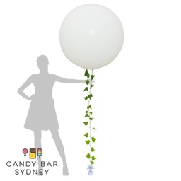 Luxe Designer Giant Balloon with Ivy Vine Garland