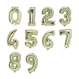 [CB62302] Gold Number 0 Foil Balloon 36cm
