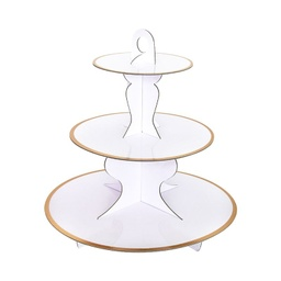 [CB62327] White  Solid Cake Stand ECO