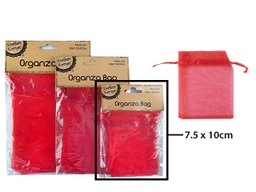 [CB62356] Red Organza Lolly Bag