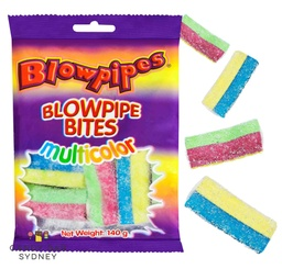 Blowpipe Bites Sour Multicolour 140g